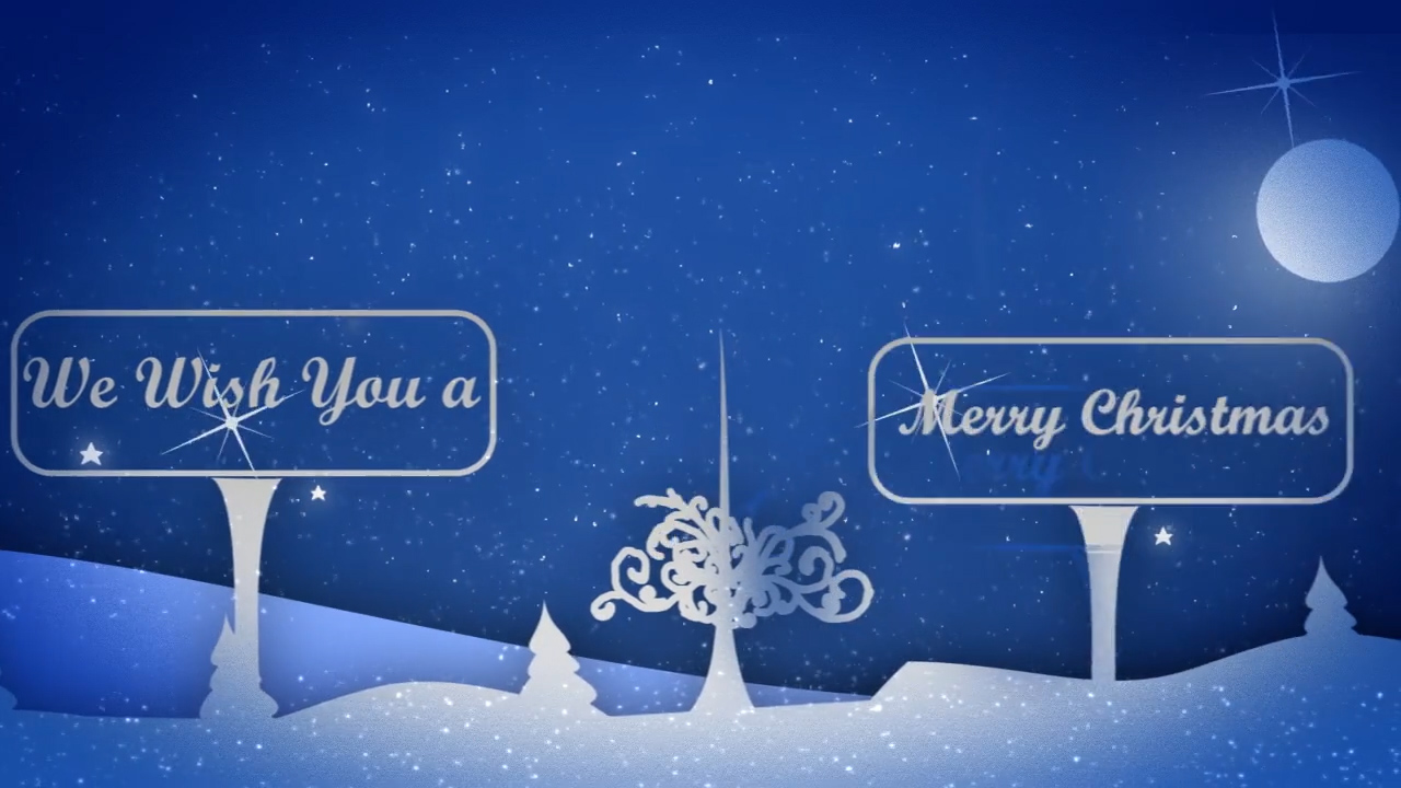 Snowy Nigh After Effects Template