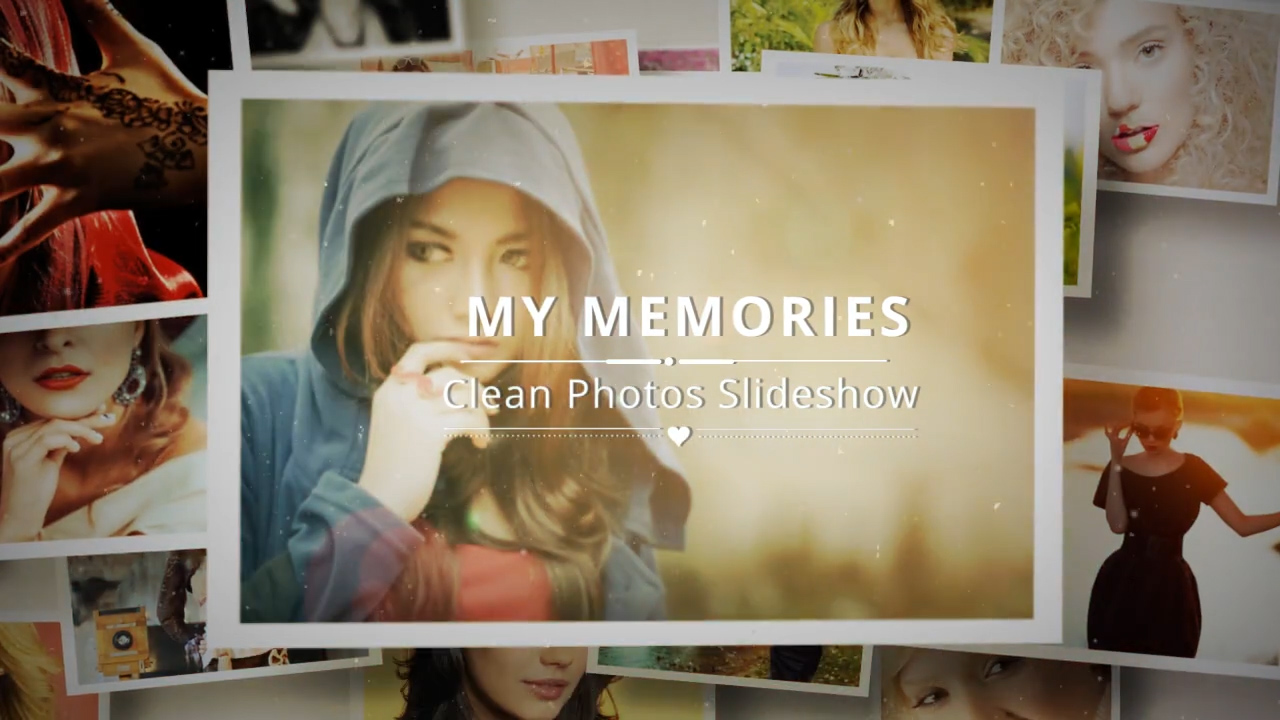 Clean Photos Slideshow After Effects Template & Project