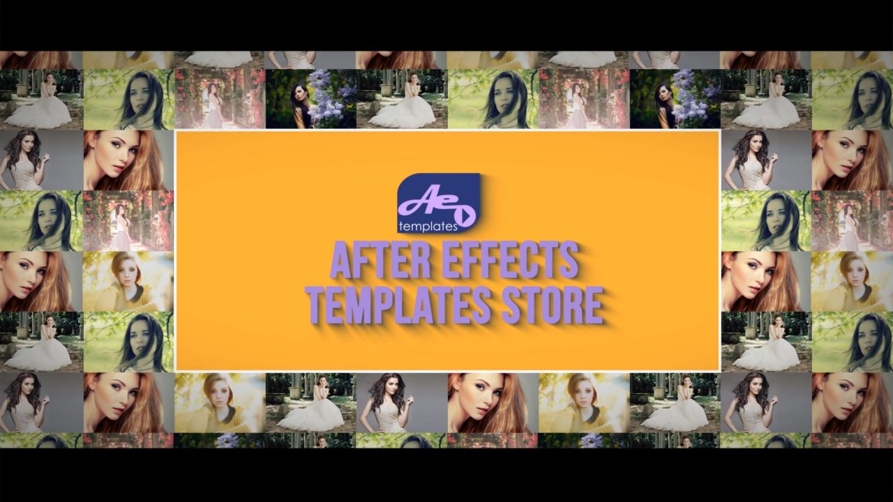 Sliding Photos After Effects Template