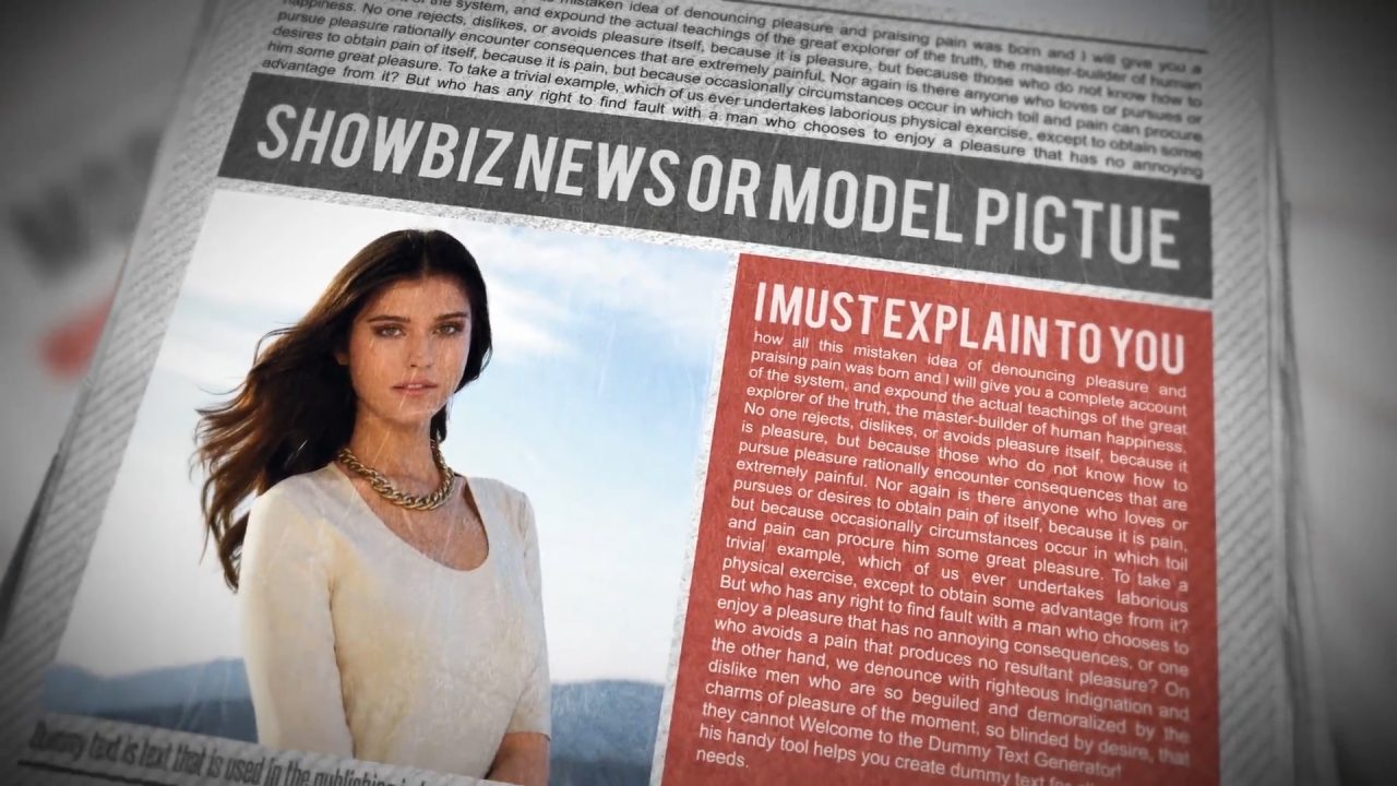 Newspaper Trailer After Effects Template